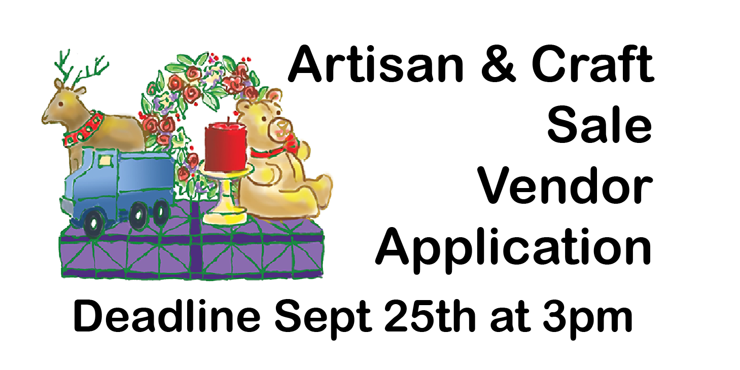 Link to Artisan & Craft Sale Vendor Application