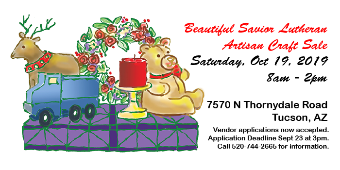 Artisan Craft Sale October 19th 8am to 2pm