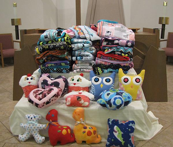 The Blanket of Hope ministry provides blankets and stuffed toys to those in Tucson hospitals.