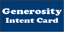 Links to the 2021 Generosity Intent Card