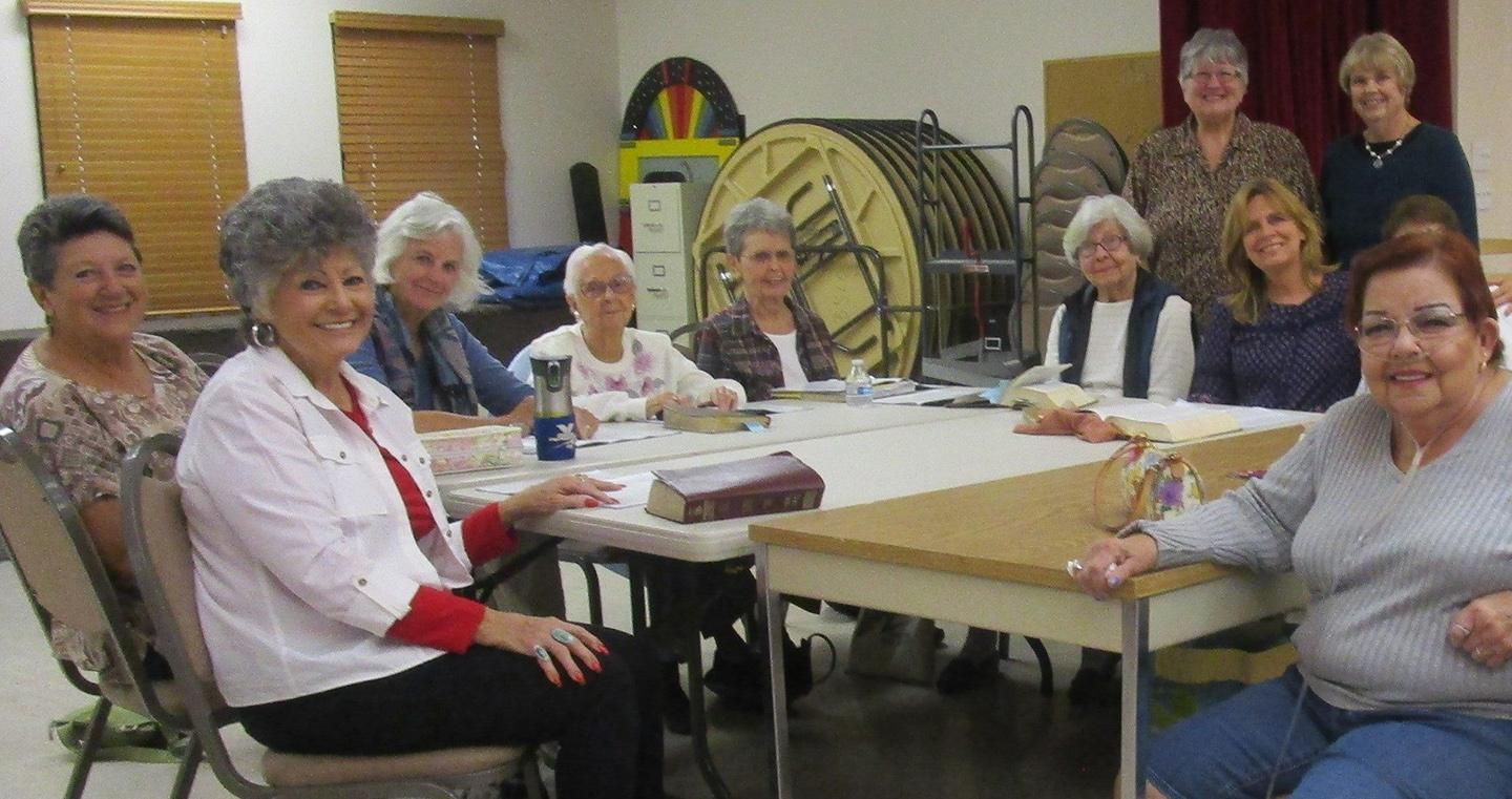 Joy Circle women gather for Bible Study and lunch.