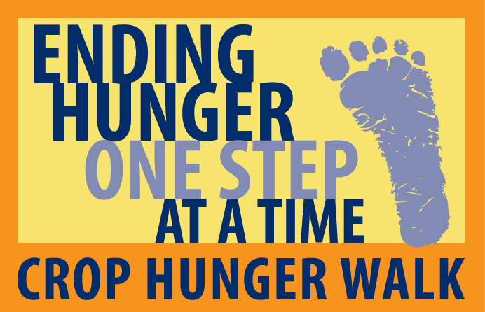 "CROP Walk Logo ""Ending Hunger One Step At A Time"""