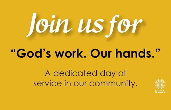 God's Work Our Hands and ELCA Logo
